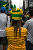 Protest against federal government corruption in Brazil Royalty Free Stock Photo