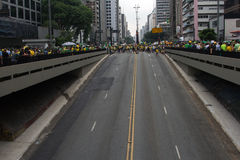 Protest against federal government corruption in Brazil Stock Photography