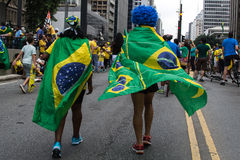 Protest against federal government corruption in Brazil Stock Photo