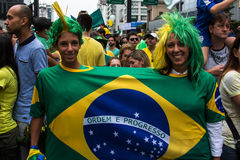 Protest against federal government corruption in Brazil Stock Image