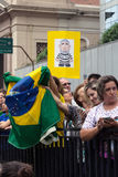 Protest against federal government corruption in Brazil Royalty Free Stock Photos