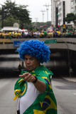 Protest against federal government corruption in Brazil Royalty Free Stock Photography
