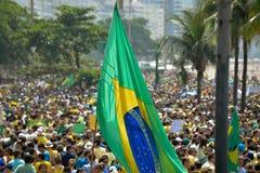 Protest against federal government corruption. RIO DE JANEIRO, RJ/Brazil - MARCH 15, Brazilians take the street of Rio de Janeiro to protest against federal Stock Image