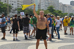 Protest against federal government corruption. RIO DE JANEIRO, RJ/Brazil - MARCH 15, Brazilians take the street of Rio de Janeiro to protest against federal Royalty Free Stock Photography