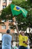 Protest against federal government corruption. RIO DE JANEIRO, RJ/Brazil - MARCH 15, Brazilians take the street of Rio de Janeiro to protest against federal Royalty Free Stock Image