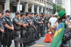Protest against federal government corruption. RIO DE JANEIRO, RJ/Brazil - MARCH 15, Brazilians take the street of Rio de Janeiro to protest against federal Stock Photography
