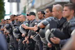Protest against federal government corruption. RIO DE JANEIRO, RJ/Brazil - MARCH 15, Brazilians take the street of Rio de Janeiro to protest against federal Royalty Free Stock Photo