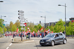 Protest against fusion of Alsace region with Lorraine and Champa Stock Photography