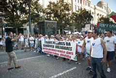 Protest against government cuts, Porto Royalty Free Stock Image