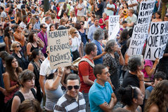 Protest against government cuts, Porto Royalty Free Stock Photo