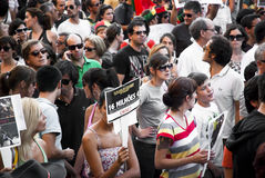 Protest against government cuts, Porto Stock Photography