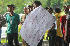 Protest against the government's policy to raise fuel prices Stock Image