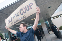 Protest Against Honduras Coup Stock Image