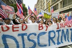 Protest against Illegal Immigration Stock Photos