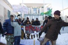 Protest against Kabila government Stock Photos