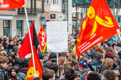 Protest against Labour reforms in France Royalty Free Stock Photos