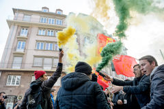 Protest against Labour reforms in France Stock Photos