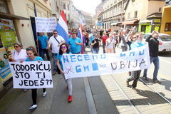 Protest against Monsanto, Zagreb, Croatia Royalty Free Stock Images