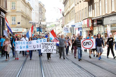 Protest against Monsanto, Zagreb, Croatia Stock Photo
