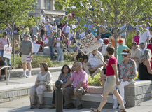 Protest Against NC Republican Politics at Moral Monday Rally in Royalty Free Stock Photography