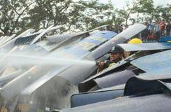 Protest against Philippine President Aquino Stock Photos