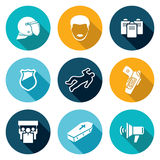 Protest against the police Icons Set. Vector Illustration. Royalty Free Stock Image