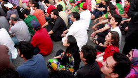 Protest against unfair elections in Pakistan stock video footage