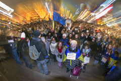 Protest against Union with Russia Stock Photography