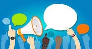 Protest anger angry popup message. Demonstration pop-up Royalty Free Stock Image
