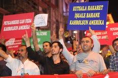 Protest anti İslam Film Stock Photos