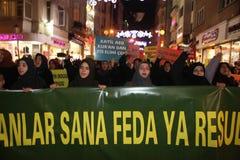 Protest anti İslam Film Stock Image