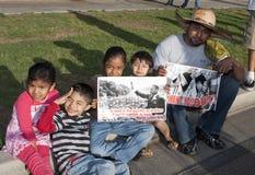 Protest-Arizona-Immigration-Gesetz SB 1070 lizenzfreie stockfotos