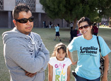 Protest Arizona Immigration Law SB 1070 royalty free stock photography