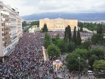 Protest in Athens, Greece Royalty Free Stock Images