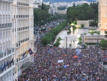Protest in Athens, Greece Stock Image