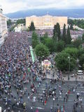 Protest in Athens, Greece Royalty Free Stock Photo