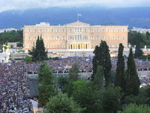Protest in Athens, Greece Stock Photography
