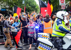 Protest on Australia day Stock Images