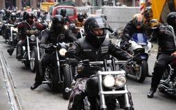Protest av motorcykelklubbor Oslo Royaltyfri Bild