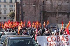Protest av studenterna i fyrkanten Royaltyfri Foto