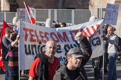 Protest av studenterna i fyrkanten Arkivfoton