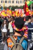Protest av studenterna i fyrkanten Royaltyfri Fotografi