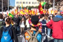 Protest av studenterna i fyrkanten Royaltyfria Foton