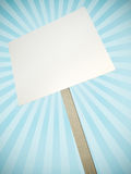 Protest banner. Blank protest banner with decorative rays in the background. 3D render vector illustration