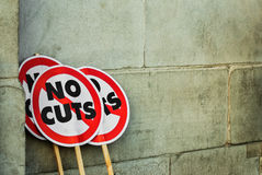 Protest banners Stock Images