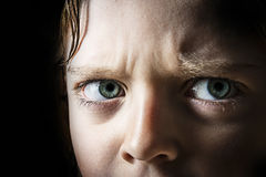 Protest. Beautiful youn angry eyes - protest Royalty Free Stock Photo