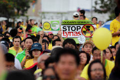 Protest BERSIH 3.0 in Penang Maleisië 3 Royalty-vrije Stock Afbeeldingen