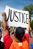 Protest bij in Washington Royalty-vrije Stock Foto's