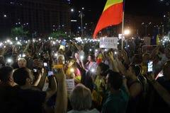 Protest in Boekarest royalty-vrije stock afbeelding