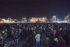Protest in Boekarest - 05 November 2017 Stock Foto